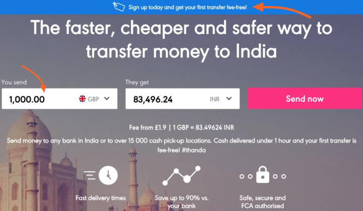 Transfer money to India without bank account in 1 hour - Azimo Cash Pickup