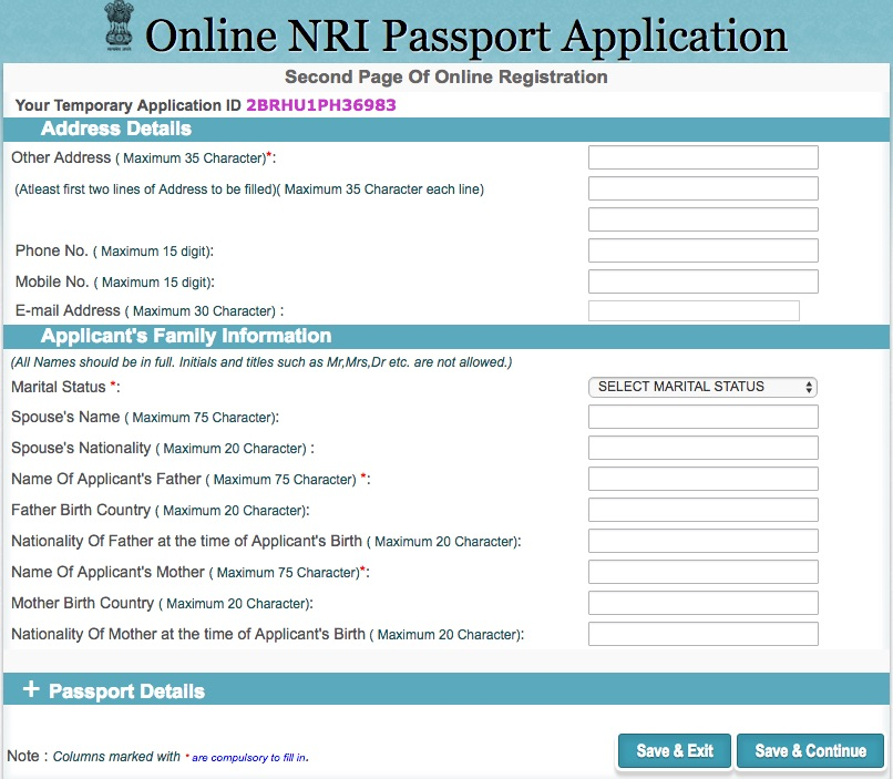 How to pay indian passport fees online
