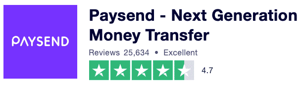 Paysend reviews page on TrustPilot