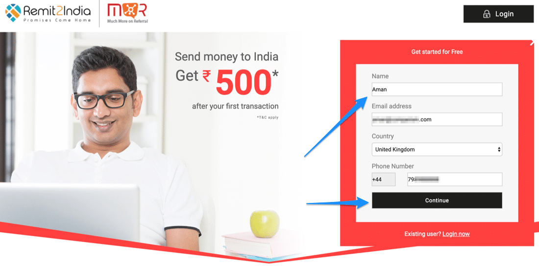 Remit2India Promo Code 2019 = 30 Paisa Extra and Zero Fees